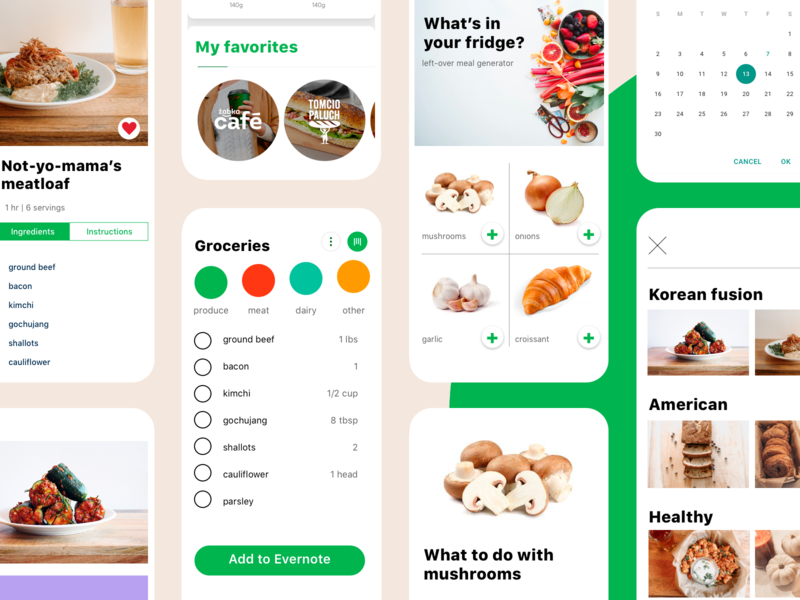 foodie app branding mobile app ui design design
