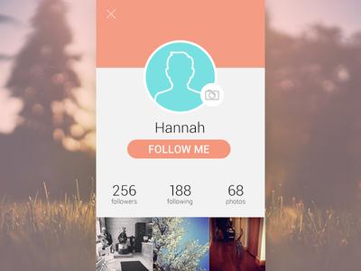 Daily UI #6 - User Profile mobile ui design daily ui user profile