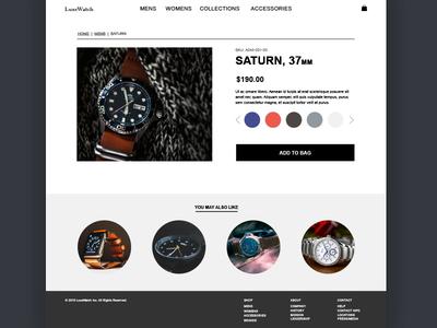 Daily UI #12 - E-commerce shop (single item) dailyui web design ui design e-commerce