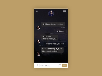 Daily UI #13 - Direct Message (chat) design ui messaging chat