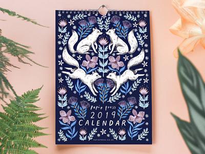 Papio Press Floral Creatures 2019 Calendar