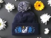Celestial Call Wolf Bobble Hat