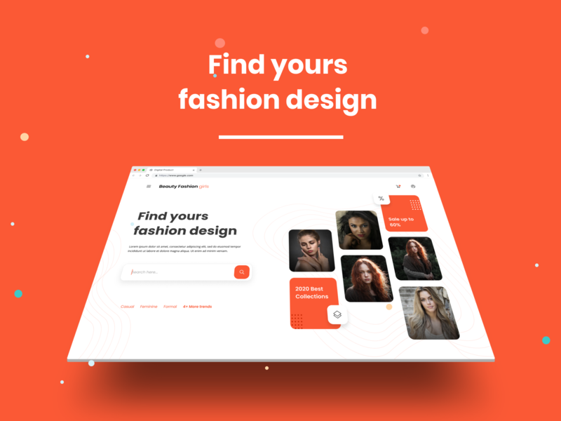 Find yours fashion design website design landing page