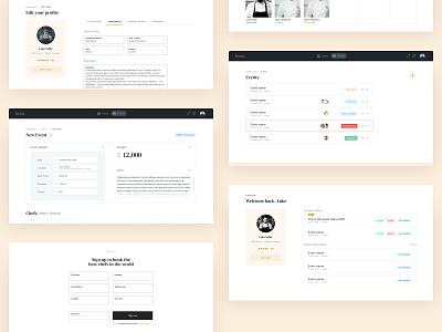 Chef Agency Dashboard dashboard ui dashboard product ux ui