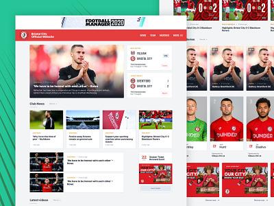 Touchline v2 football club website sport web app soccer football product ux responsive ui