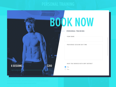 George Branford Personal Trainer — Booking Form modal form booking website ui responsive personal trainer leisure gym flat fitness bright