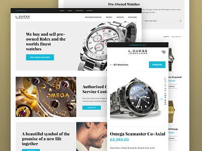 L. Guess Jewellers website jewellery watch ux ui mobile responsive jewellers