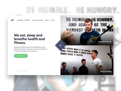 Sussex Performance Centre — Desktop personal trainer website fullscreen cta video animation desktop clean gym fitness ux ui