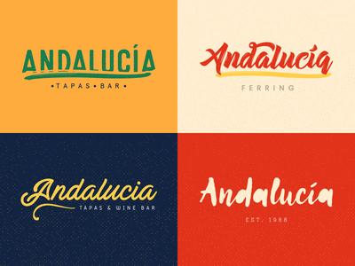 Andalucia Re-brand wordmark andalucia spain restaurant tapas logo brand