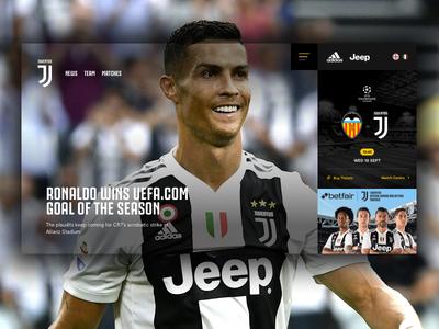 Juventus Concept sport concept cristiano juventus football soccer website responsive ux ui