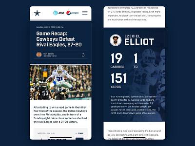 Dallas Cowboys Mobile article mobile dallas cowboys concept typography football website responsive ux ui