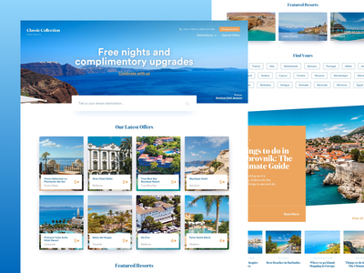 Luxury Holiday Company Homepage concept travel agent holidays travel website responsive ux ui