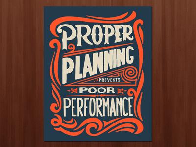 Proper Planning Print prints print lettering type typography handmade screenprint