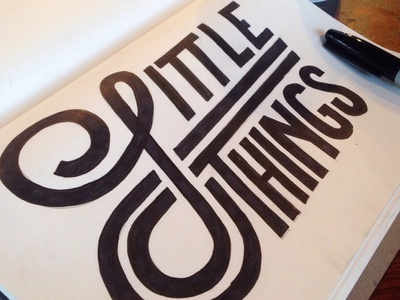 Little Things handlettering lettering typography type
