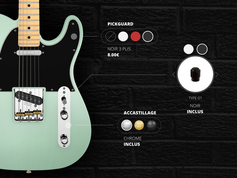 Guitar Custom music interaction design interface user interface ui ux design fender rock custom guitars guitar