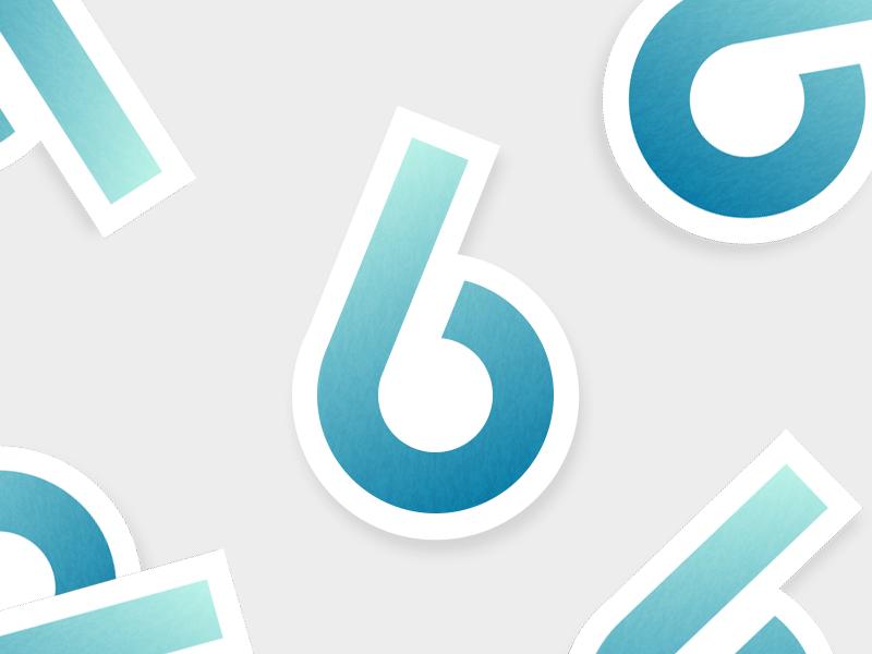 #Typehue 6 blue number gradient 6 typehue