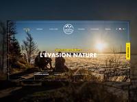 Mountain destination - Landing page