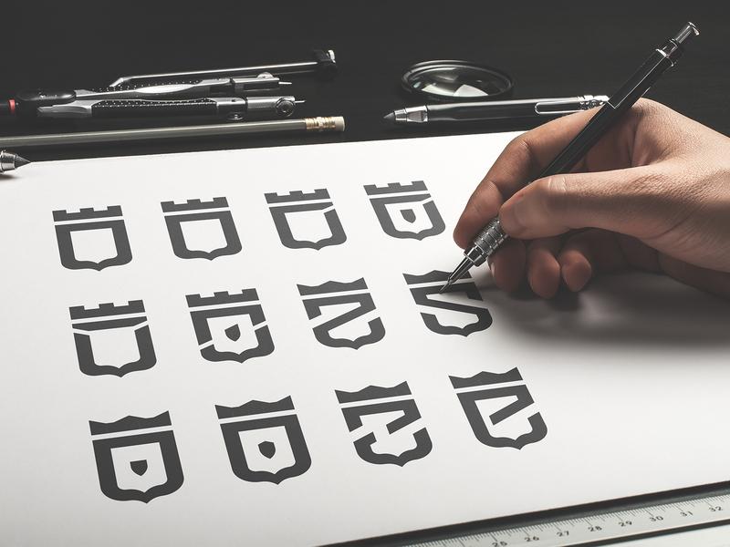 🛡Shield Icon Design logotype design logotype inspiration royal crown letter illustration graphic symbol branding brand process design emoji icon logo shield