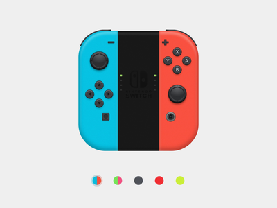 Joy-Con™ : Color Select inspiration transition colors select motion after affects sketch nintendo switch app animation illustration switch joycon nintendo game freebie app icon icon app app