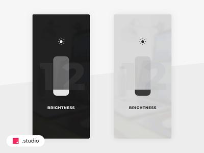 💡 Brightness Control invisionstudio invision light dark swipe clean interface transition motion ui animation animation ios mobile design user interaction interaction user interface user interface ui  ux brightness