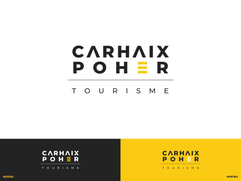 Carhaix Poher Tourism | Branding font minimal france inspiration travel tourism montserrat logotype vector typography illustration branding brand logo icon design