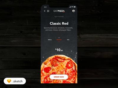 🍕Eatpizza - App food app ecommerce ordering interace interaction ui  ux user inteface user experience motion mobile ios order pizza sketch app food design app  design