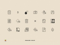 Macintosh Classic Icon Set 8bits 8bit redesign design ui susankare vintage retro mac 80s apple pixel icon set icon macintosh