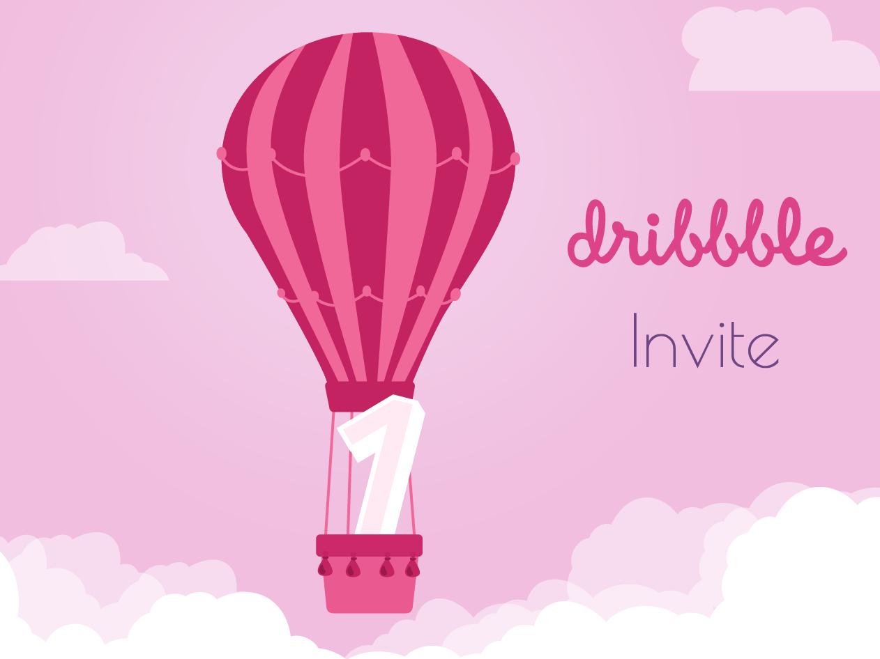 1xInvite draft vector illustration dribbble invite dribbble invite