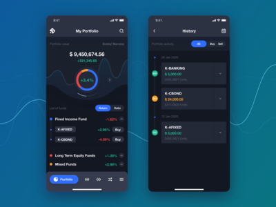 Funds app design concept