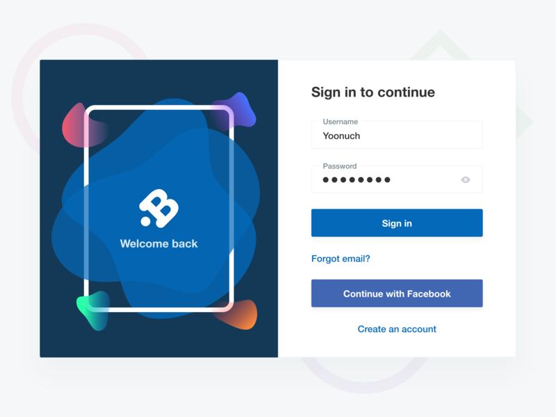 Busble Login Design website web sign up register sign in login ui interaction flat card app concept
