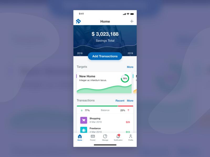Money Management App planner chart transaction money management money app money design app ui mobile app interaction flat card app concept