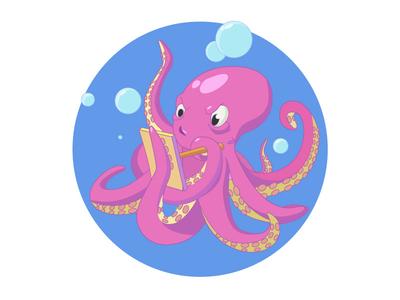 Focused octopus