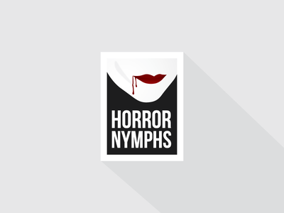Horror Nymphs nymphs blood horror logo