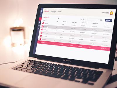 Employee Dashboard modern clean simple management employee admin website pink purple ux ui dashboard