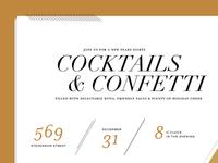 Cocktails & Confetti Invitation
