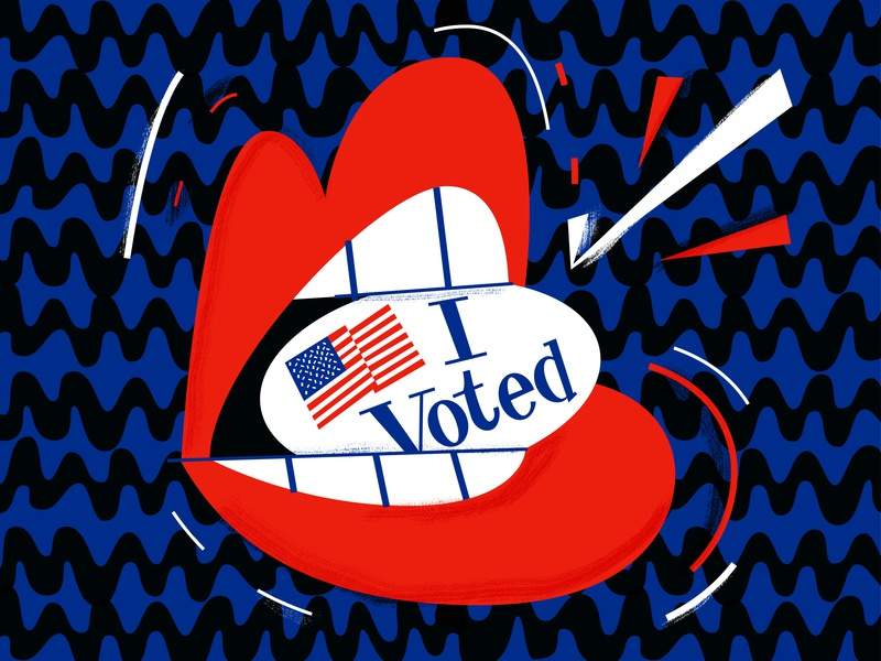 Voted 2018 voted talking govote america voting