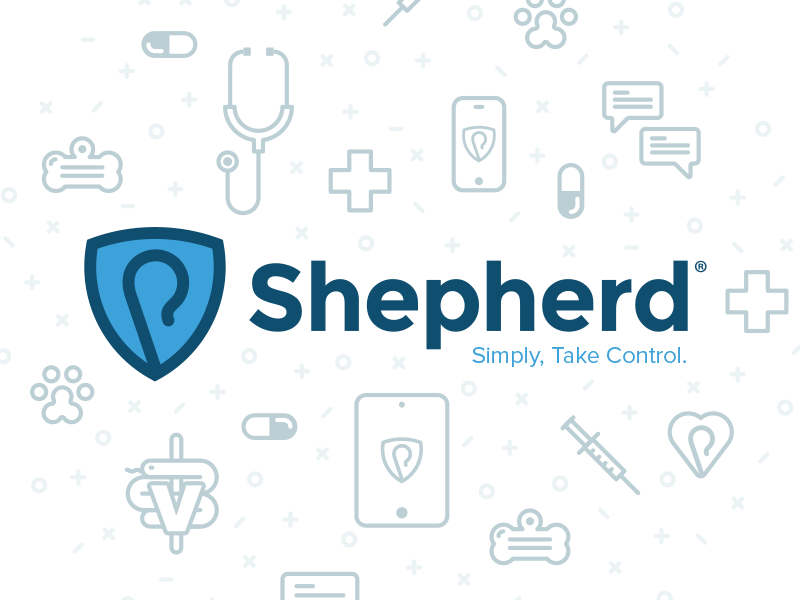 Shepherd Logo icon branding logo mobile hospital vet medical veterinary medicine animal staff shepherd