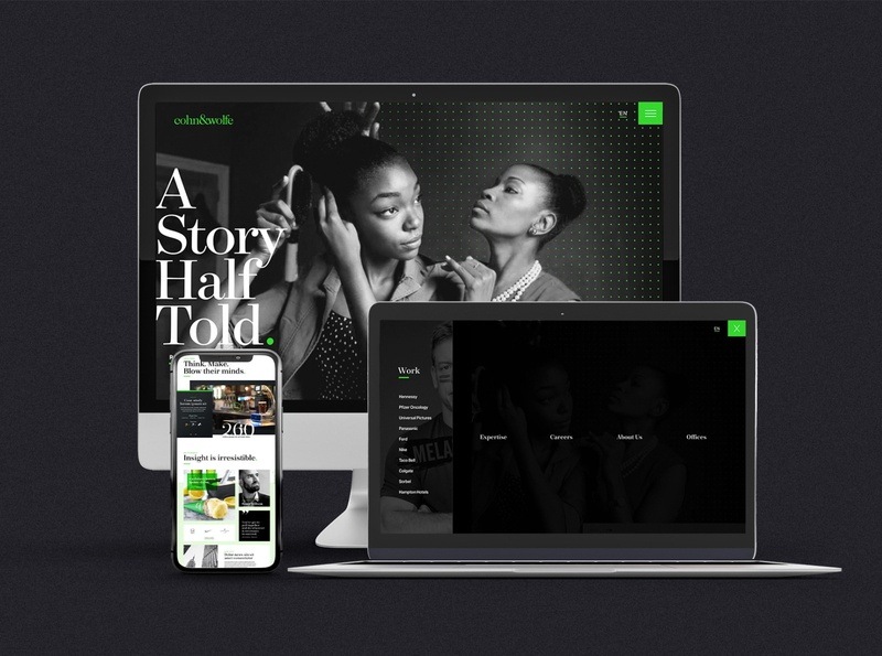 Cohn & Wolfe responsive website design user experience user interface design direction