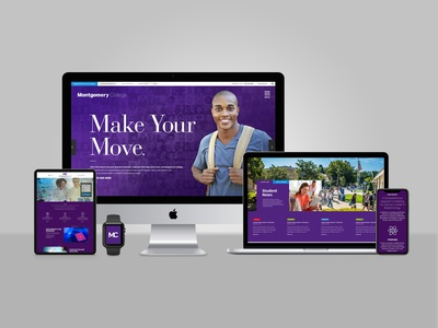 Montgomery College design explorations moodboards responsive website design direction higher education