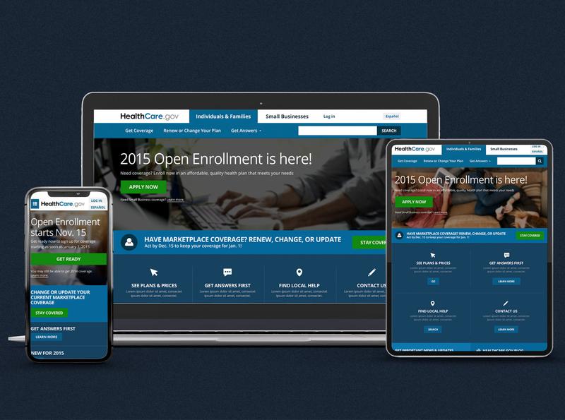 HealthCare.gov responsive website design user experience design user interface design healthcare app ui