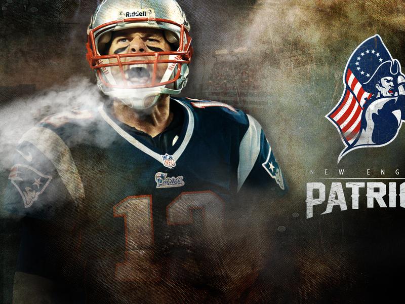 New England Patriots design direction typography art direction design digital football vince wilfork tom brady nfl