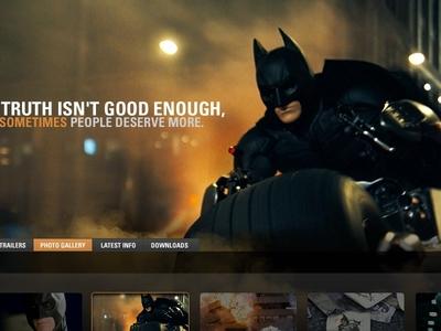 Legendary Pictures art direction design uiux legendary pictures the dark knight batman
