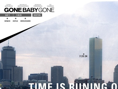 Gone Baby Gone art direction design typography photo editing film sites