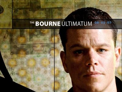 The Bourne Ultimatum art direction design entertainment film sites bourne