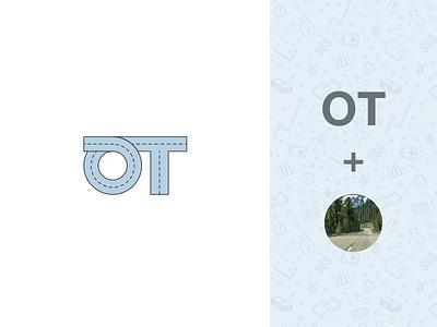 Logo design for OnTrack road vector design branding logo