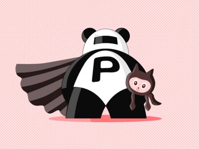 Pull Panda mascot