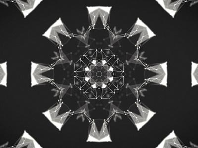 Kaleidoplexus form experimental kaleidoscope animation 2d plexus