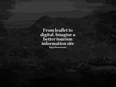 Enjoy Derwentwater Campaign Page web design typography ui dark