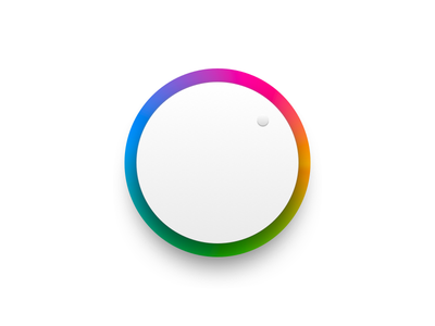 Hue toggle wheel skeuomorphic toggle button knob toggle gradient hue ui