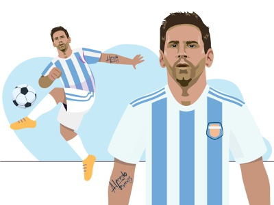 Lionel Messi kicking the ball lionel messi football design argentina illustration messi